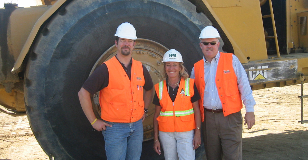 Kerri Howell, corrosion engineer, onsite at Folsom Dam project.